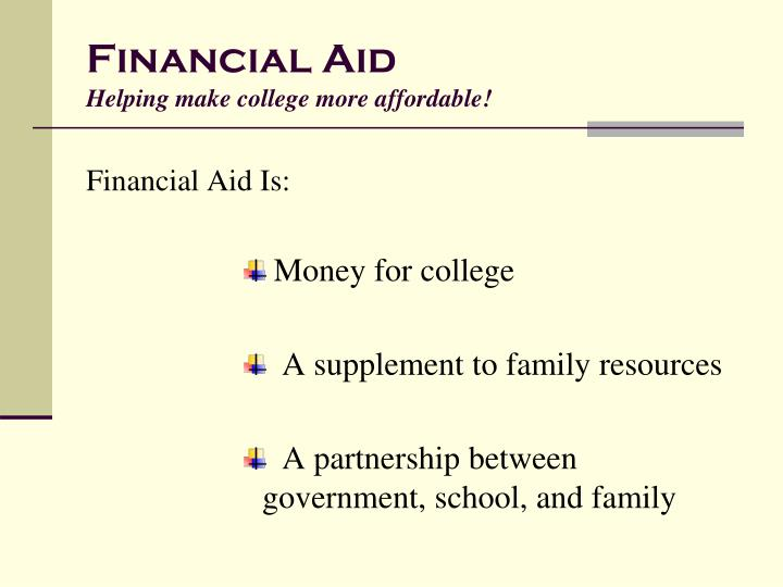 Financial aid helping make college more affordable