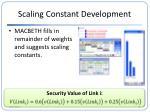 scaling constant development1