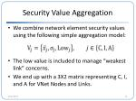 security value aggregation