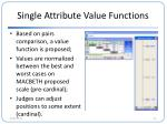 single attribute value functions2