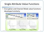 single attribute value functions3