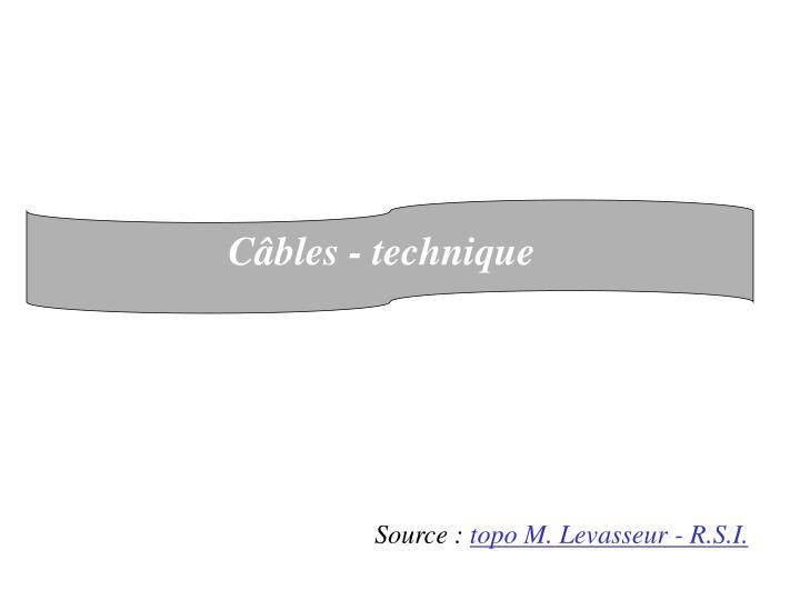 Câbles - technique