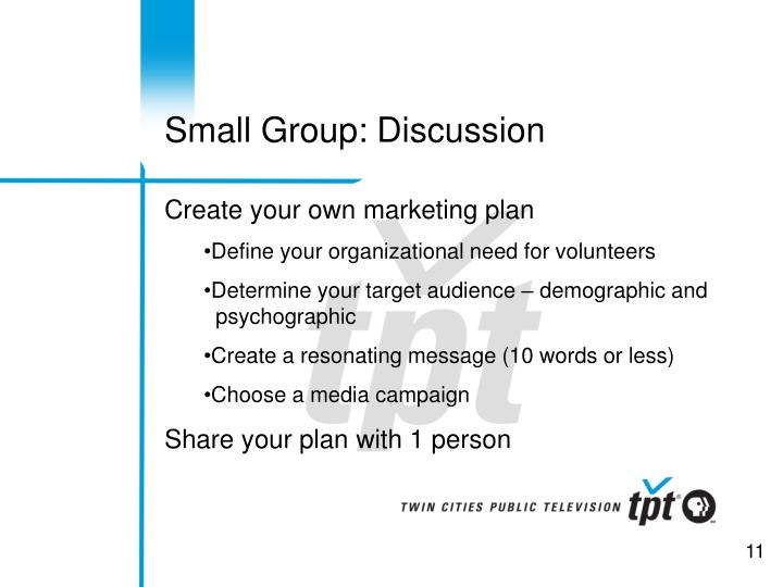 Small Group: Discussion