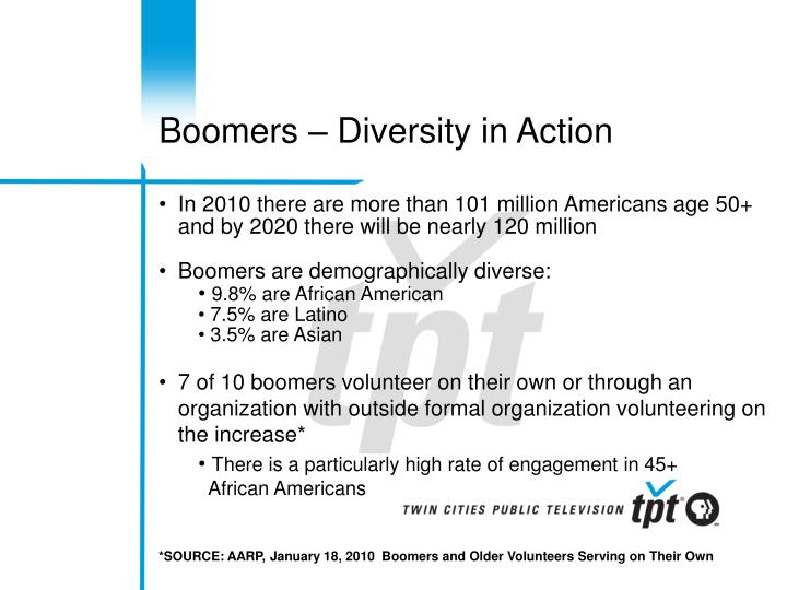 Boomers – Diversity in Action