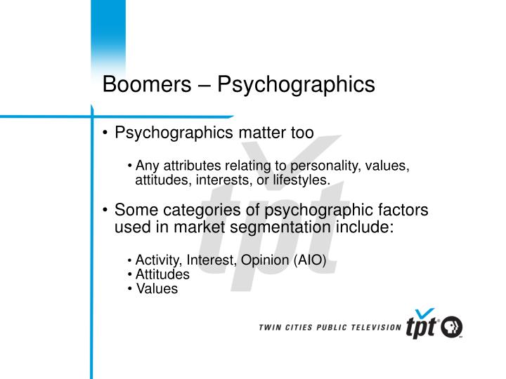 Boomers – Psychographics