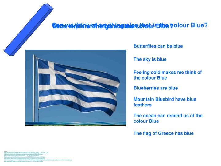 Can we think of anything else that is the colour Blue?