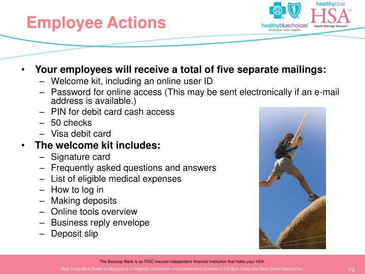 Employee Actions