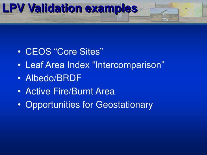 LPV Validation examples