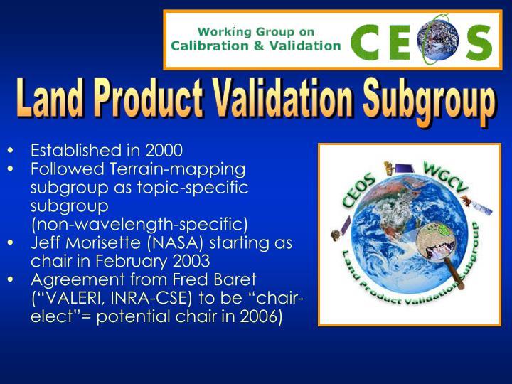 Land Product Validation Subgroup