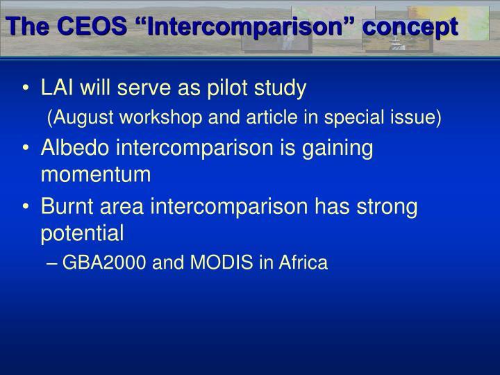 """The CEOS """"Intercomparison"""" concept"""