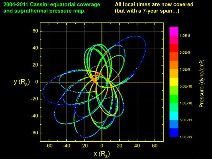 2004-2011 Cassini equatorial coverage