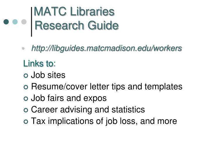 Matc libraries research guide