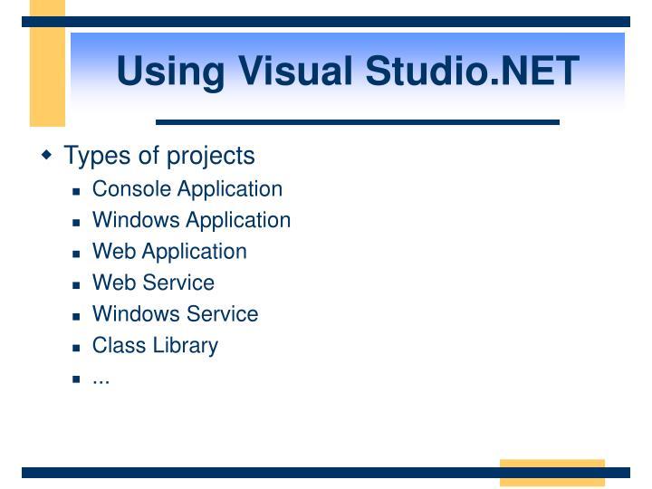 Using Visual Studio.NET