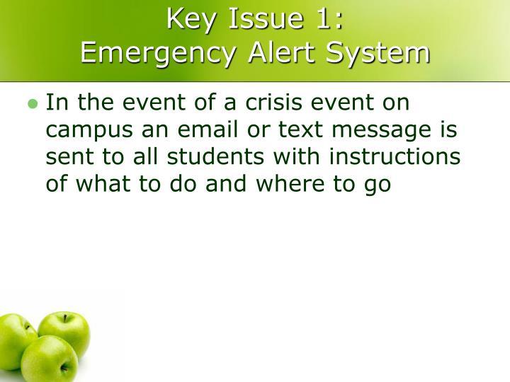 Key Issue 1: