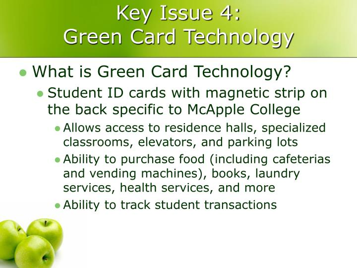 Key Issue 4:
