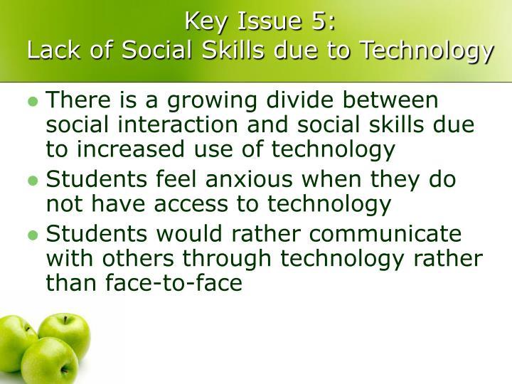 Key Issue 5: