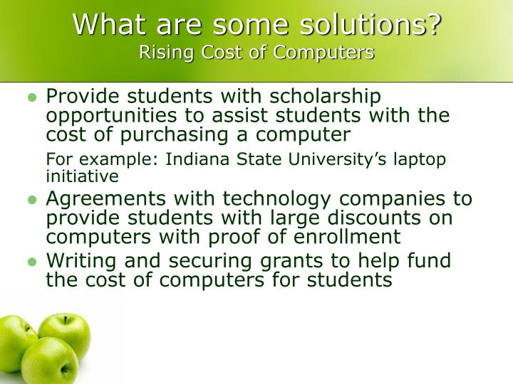 What are some solutions?