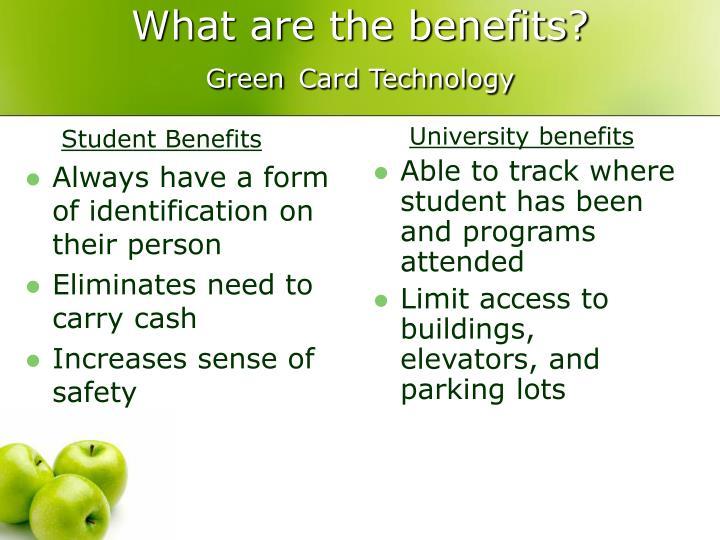 Student Benefits