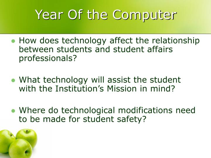 Year of the computer