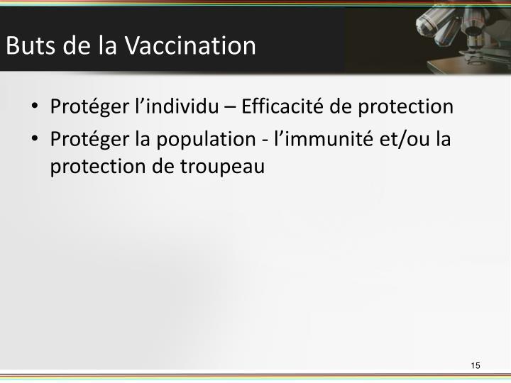 Buts de la Vaccination