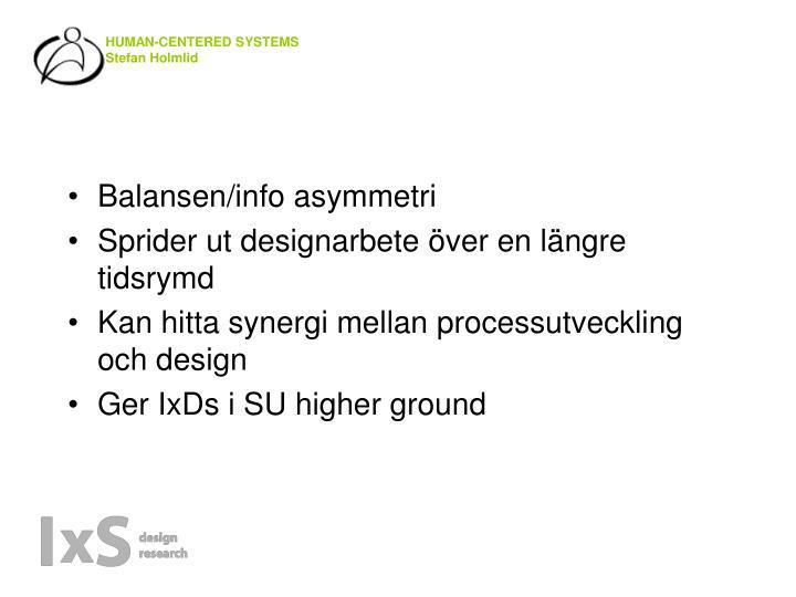 Balansen/info asymmetri