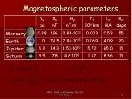 magnetospheric parameters