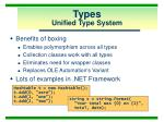 types unified type system10