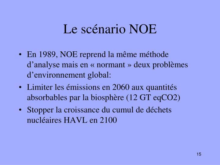 Le scénario NOE