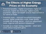 the effects of higher energy prices on the economy