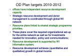 od plan targets 2010 2012