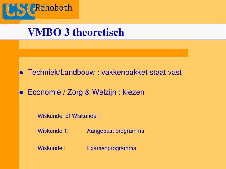VMBO 3 theoretisch