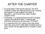 after the charter