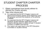 student chapter charter process