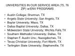 universities in our service area 75 76 zip w env programs