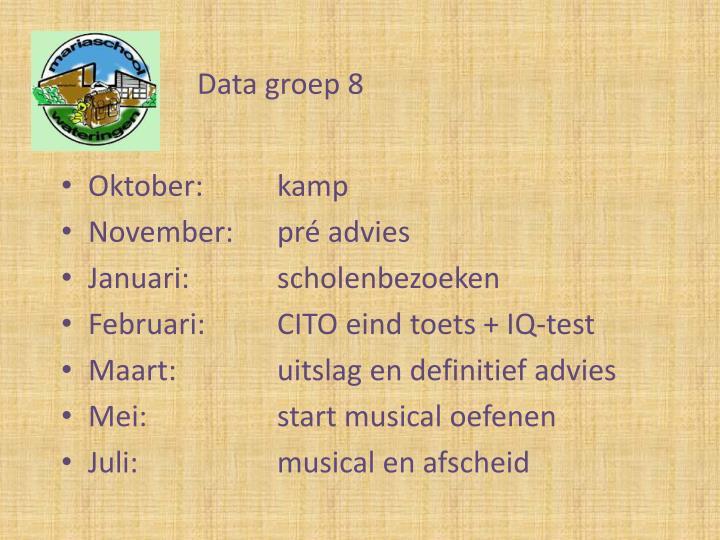 Data groep 8
