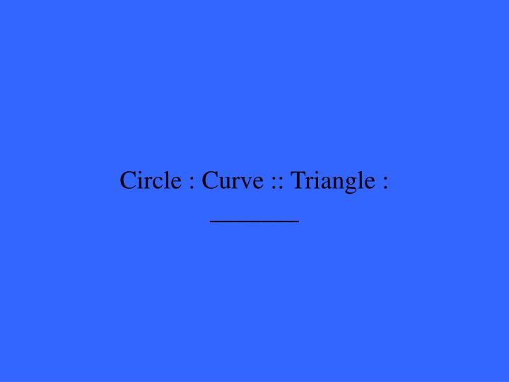 Circle : Curve :: Triangle : _______