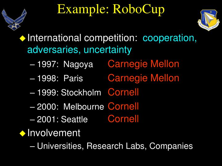 Example robocup