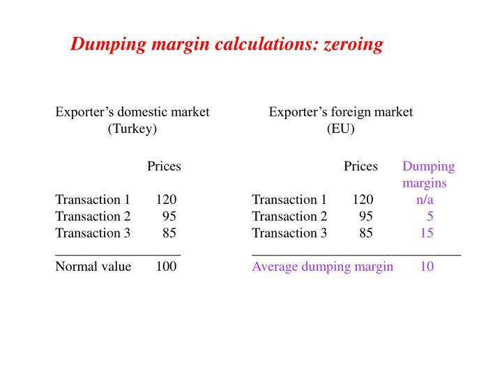 Exporter's domestic market