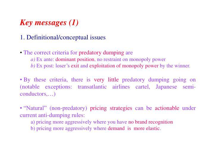 Key messages (1)