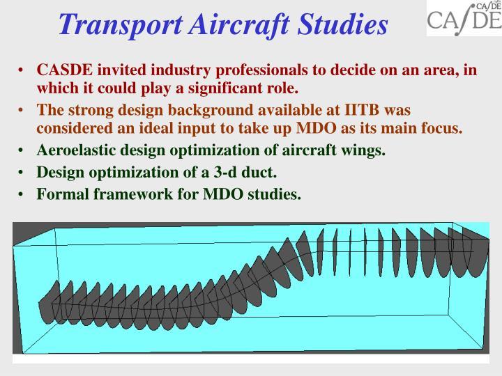 Transport Aircraft Studies