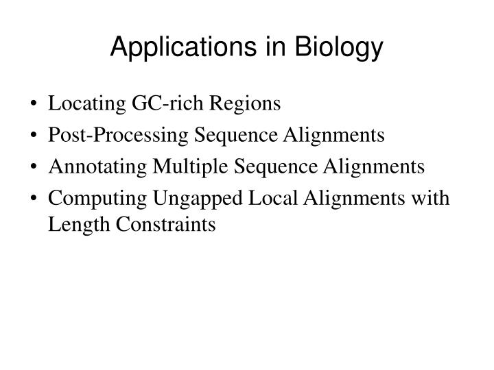 Applications in Biology