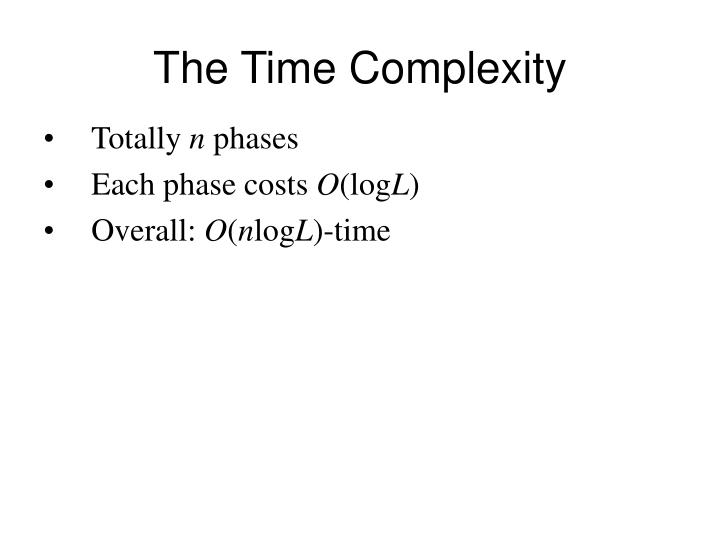 The Time Complexity