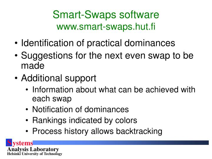 Smart-Swaps software