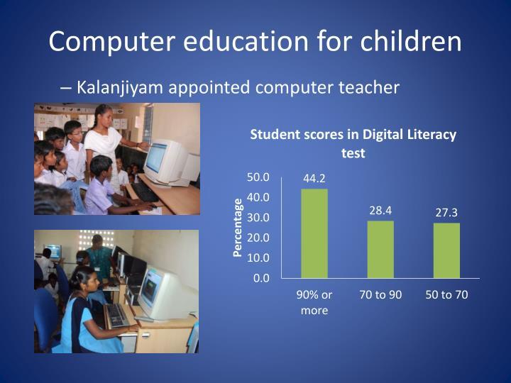 Computer education for children