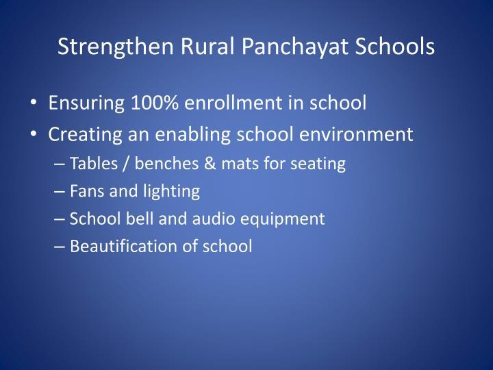 Strengthen Rural Panchayat Schools