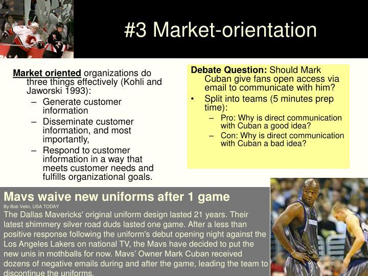 Market oriented