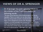 views of dr a sprenger