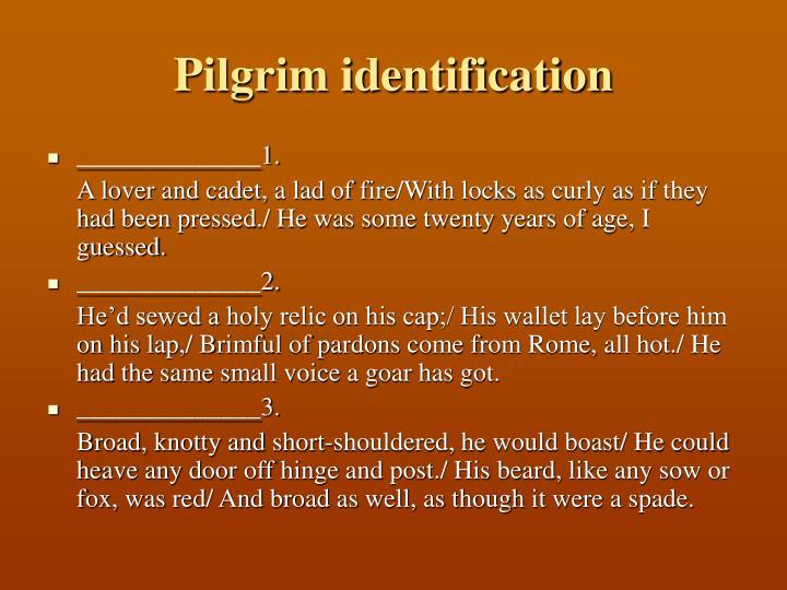 Pilgrim identification