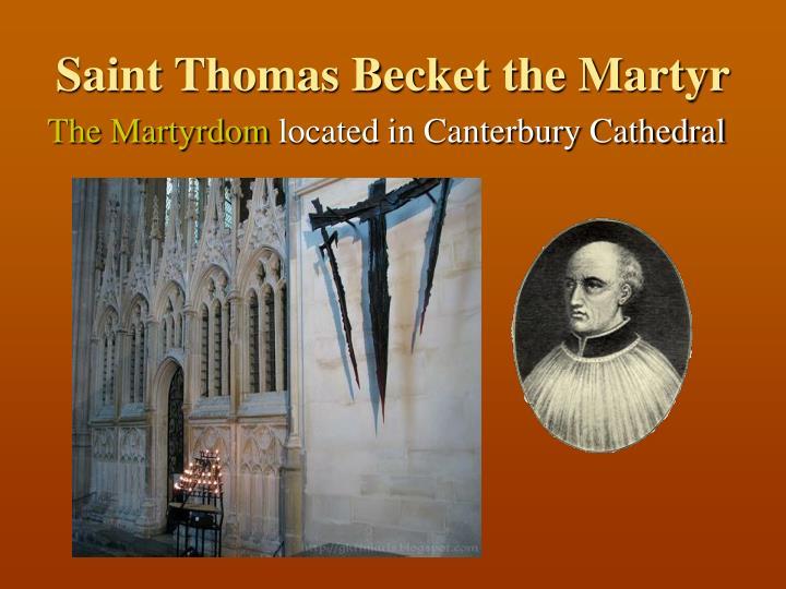 Saint Thomas Becket the Martyr