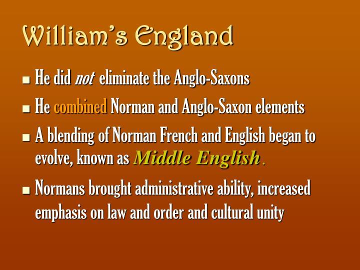 William's England